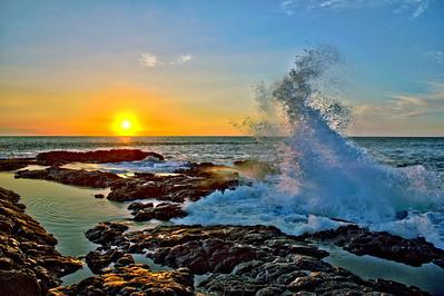 The tide pools located near the Kona Airport on the Big Island of Hawaii