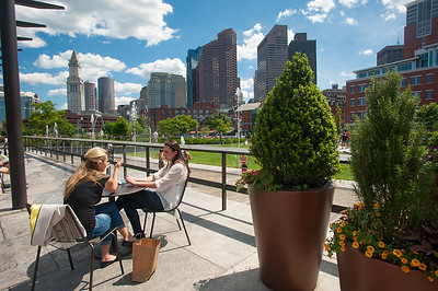 View from the Rose Kennedy Greenway