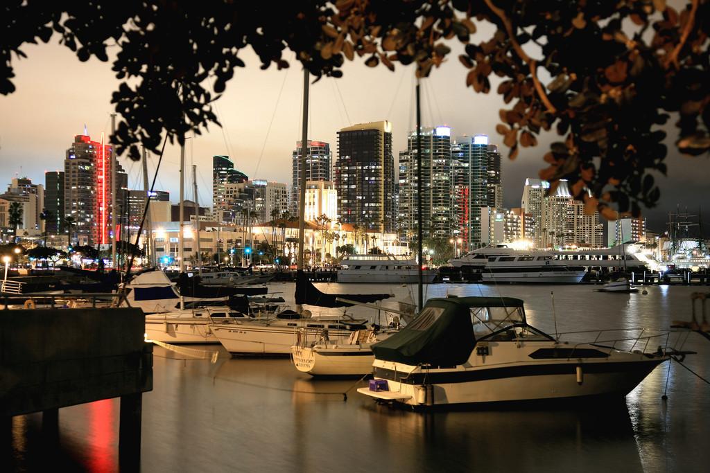 San Diego Harbor at Night - San Diego, CA