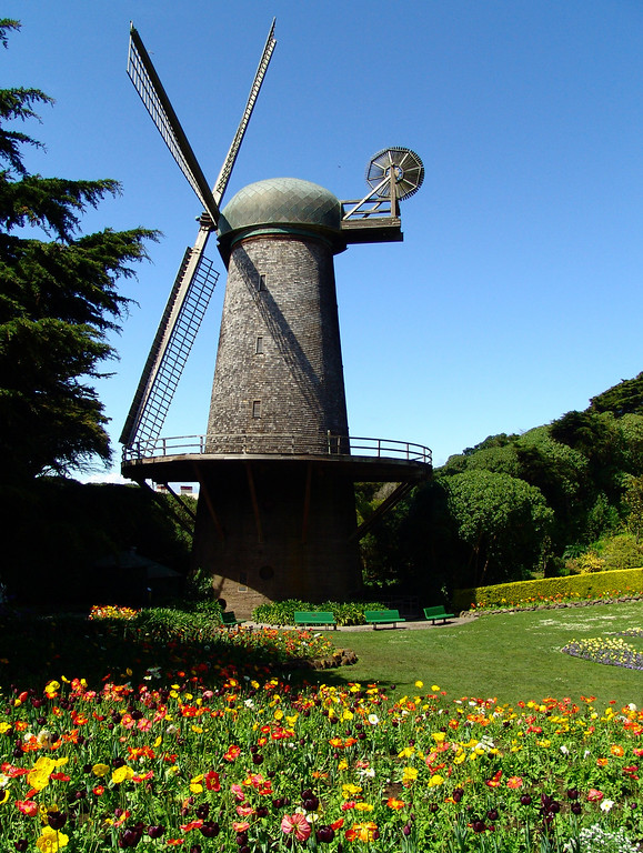 Queen Wilhelmina's Windmill - Golden Gate Park <br /> San Francisco, California