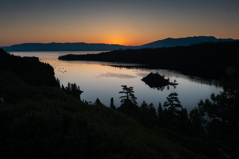 Dawn Breaking at Lake Tahoe