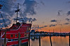 Pirate Ship At Dawn