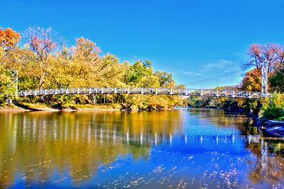 The Bridge Over the Kishwaukee River at Atwood Park