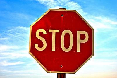 Hi-Resolution Stop Sign at Rock Cut State Park