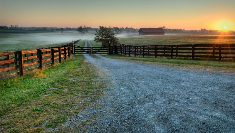 Sunrise Over Lantern Hill Farm