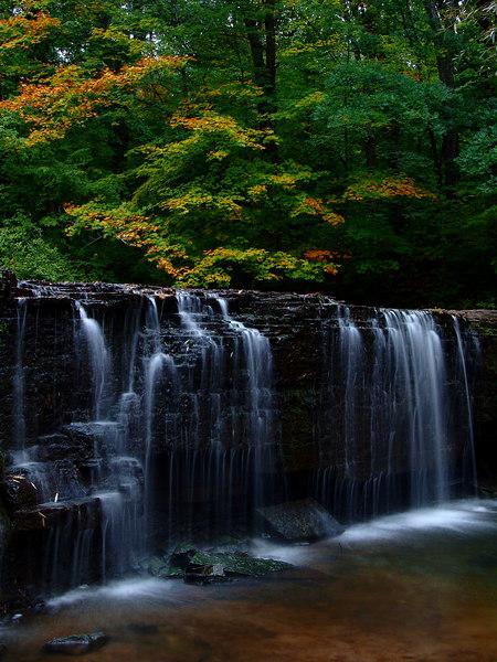 The Beginnings of Fall - Hidden Falls Near Nerstrand, MN
