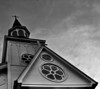 Saint Francis Of Assisi Steeple  - B&W