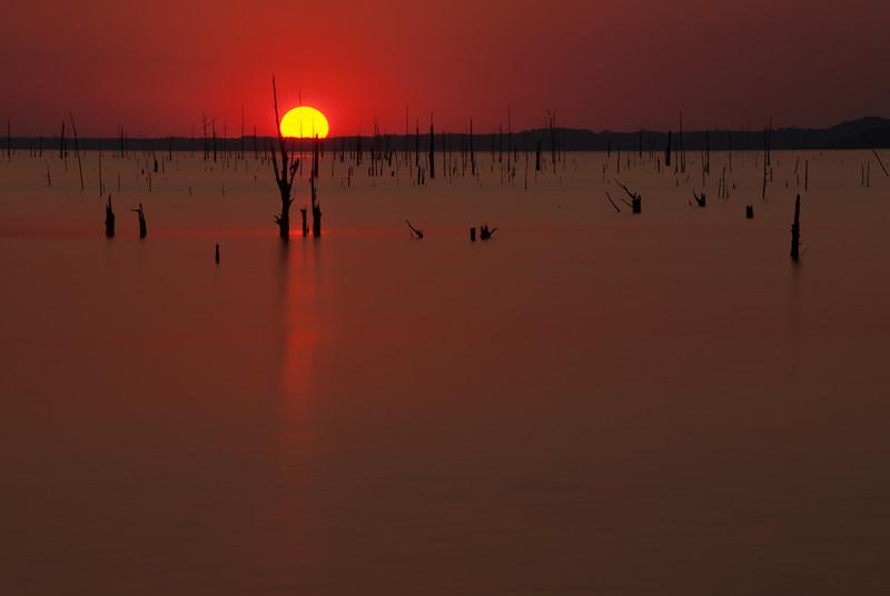 Sunset At Grenada Lake