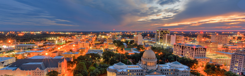 Jackson, Mississippi At Dusk