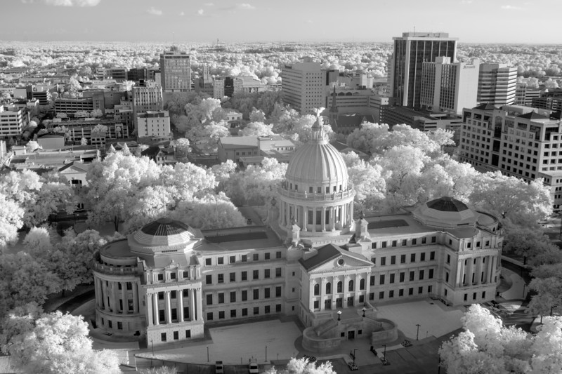 Mississippi Capitol and Jackson in Infrared