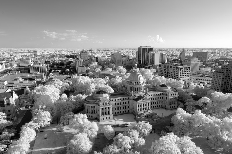 Jackson, Mississippi in Infrared B&W
