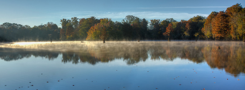 Misty Morning On Mayes Lake