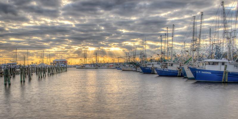 Sunrays Over Pass Christian Harbor