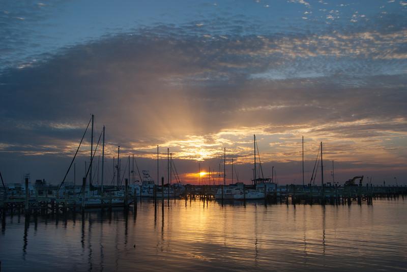 Sunrise at Long Beach Harbor