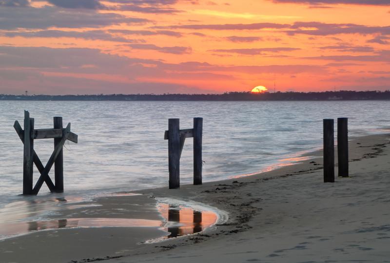 Sunset at the Mississippi Gulf Coast