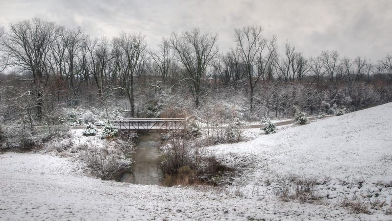 Snow Covered Natchez Trace Walking Bridge