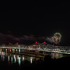 Fireworks Over The Natchez Bridges