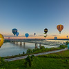 Hot Air Balloons Over The Mighty Mississippi River Bridges At Natchez