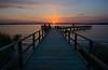 Sunrise at Ross Barnette Reservoir Pier