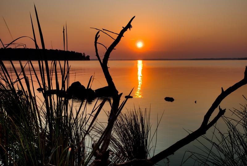 This sunrise was taken at the Ross Barnette Reservoir.