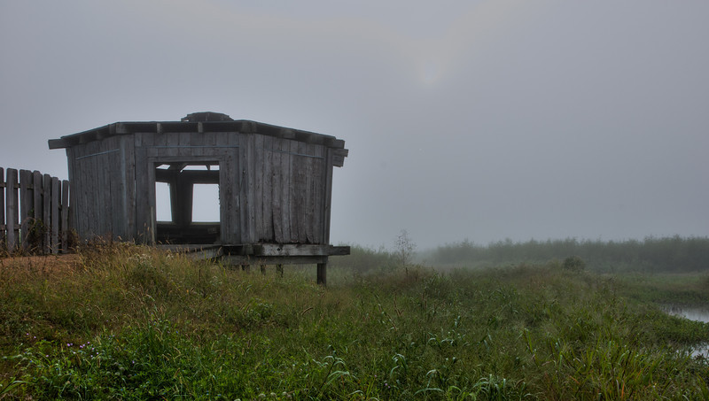 Waterfowl Blind in the Fog