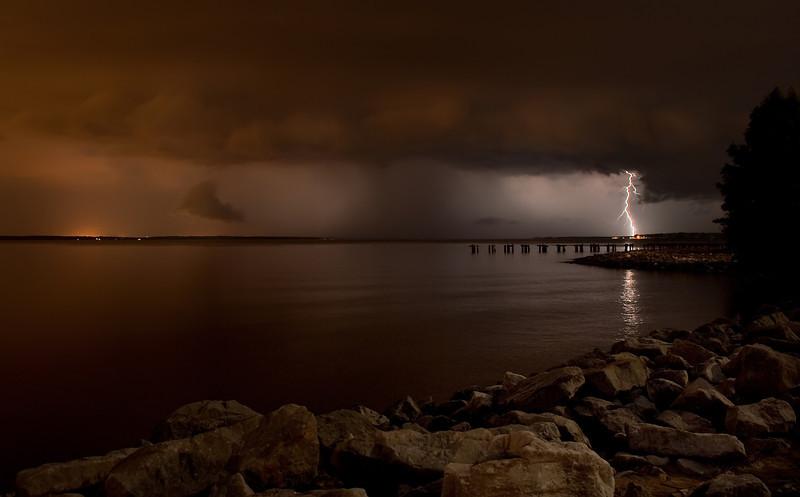 Thunderstorm over the Ross Barnette Reservoir.