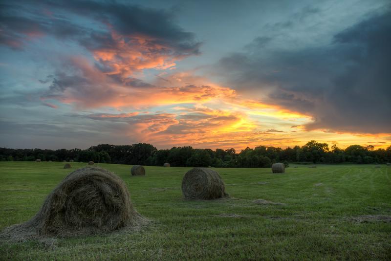 Haybale Sunset-2