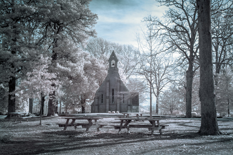 Chapel Of The Cross in Infrared Blue Cast