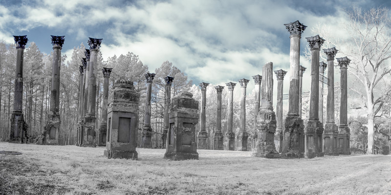 Ruins of Windsor in Infrared