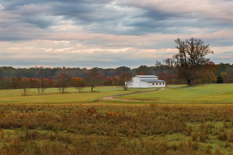 Autumn Barn At The Natchez Trace