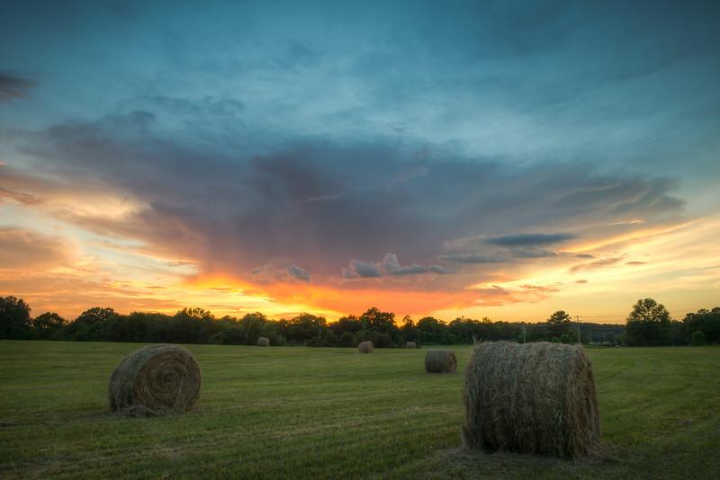 Haybale Sunset