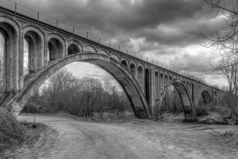 Bovina Railroad Bridge B&W
