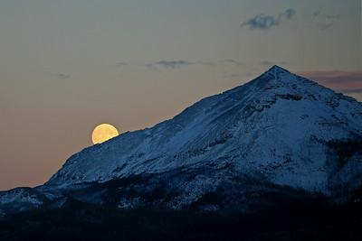 Full Moon Rising - Glacier National Park