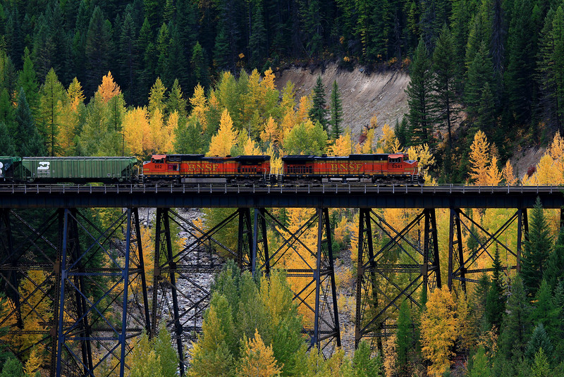 BNSF Railroad - Near Glacier National Park