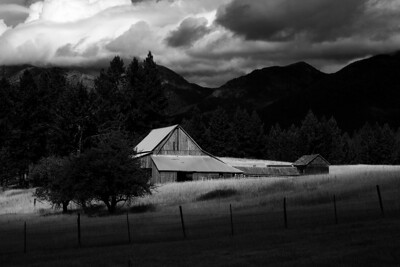 Abandon Barn - Near Creston, Montana