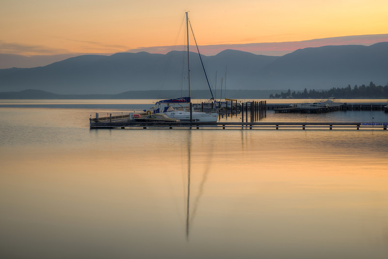 Dawn at Flathead Lake, Polson, Montana
