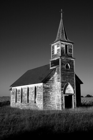 Weathered Church - Western Nebraska