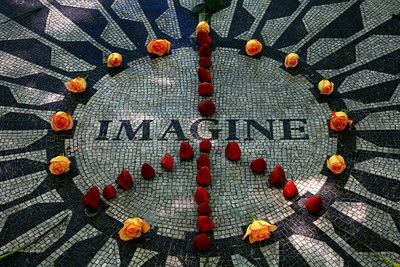 Strawberry Fields in Central Park - New York
