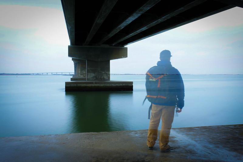 The Longport bridge leaving Ocean City, NJ. I shot this in a single shot, no double exposure or post work in LIghtroom.