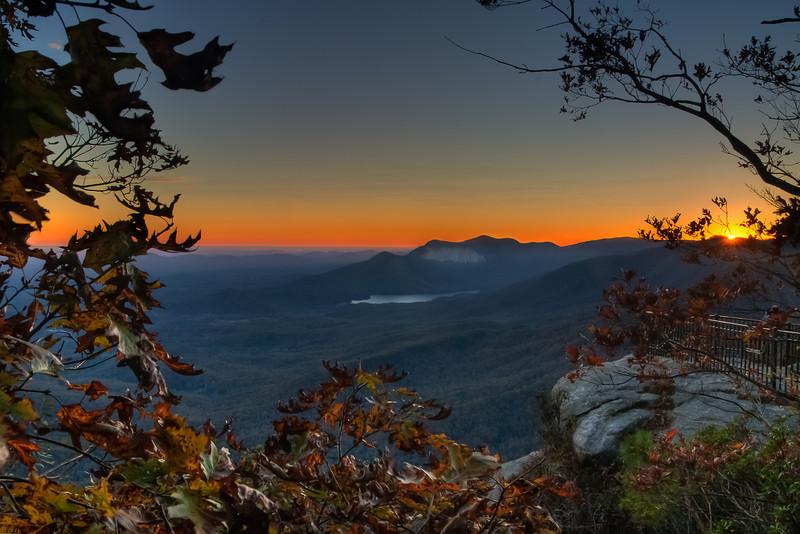 View of Mountain From Caesars Head South Carolina