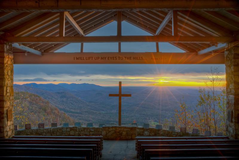 Sunrise at Symmes Chapel