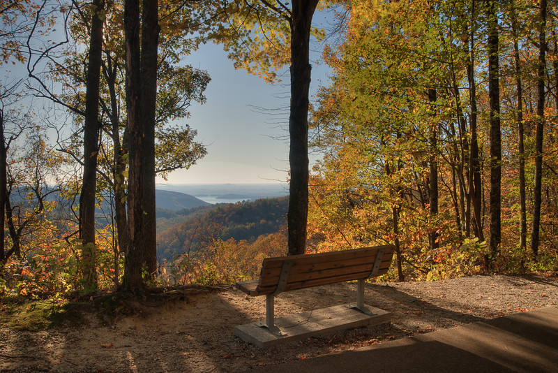 Sitting Place on Trail to White Water Falls