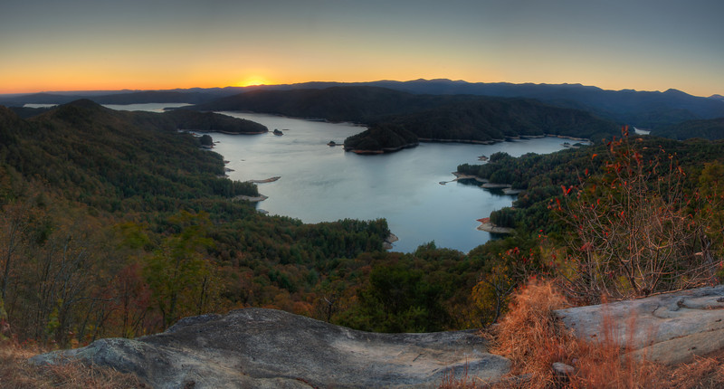 View Of Lake Jocassee from Jumping Off Rock