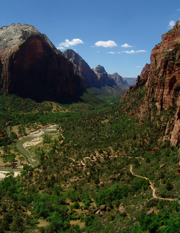 View From Angel's Landing - Zion National Park, Utah
