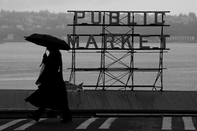 Seattle's Two Icons:  Rain and the Market