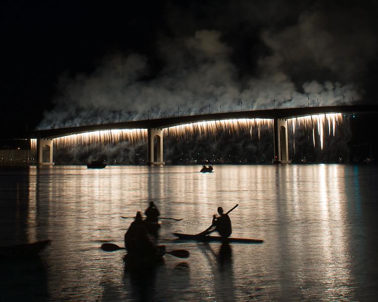 Bremerton Bridge Blast Fireworks Waterfall
