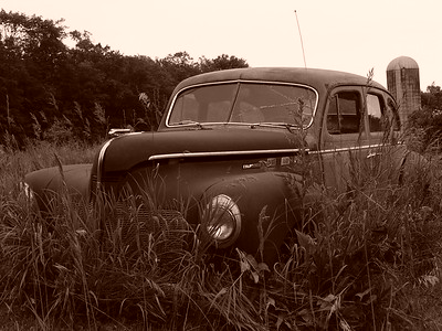 An Abandoned 1940 DeSoto Deluxe