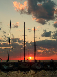 Sunset Over Egg Harbor, Wisconsin