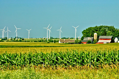 Windmills near Horicon Marsh