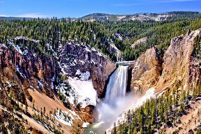 Yellowstone Falls in Morning Light